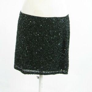 Dark green HAUTE HIPPIE mini skirt L